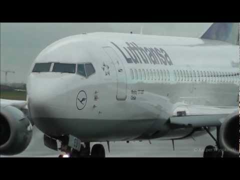 Lufthansa Boeing 737-300 takeoff from Warsaw EPWA
