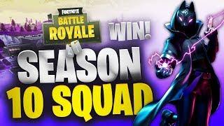 Season 10 | Random Squad Win | Fortnite | No Commentary