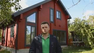 видео Проекты одноэтажных домов из бруса клееного и профилированного для постоянного проживания