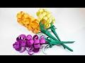 Paper Flowers hyacinths DIY  making tutorial. Paper flower easy for children, for kids,for beginners