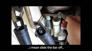 Replacing Garage Side Extension Spring On An Old One Piece Garage Door