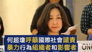 何超琼:呼吁国际社会谴责暴力行为组织者和影响者 | CCTV