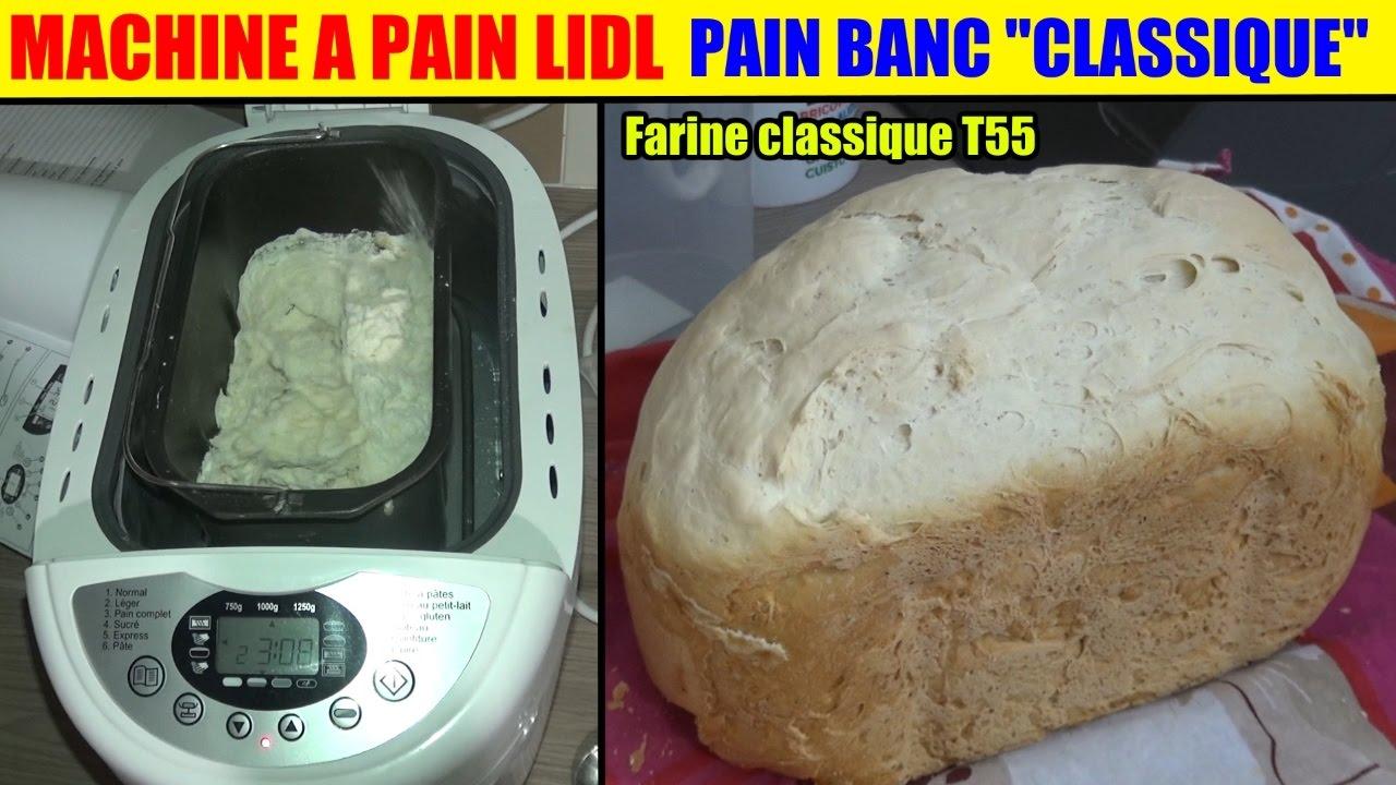 machine à pain lidl silvercrest - test pain - programme 2 léger - pain blanc classic