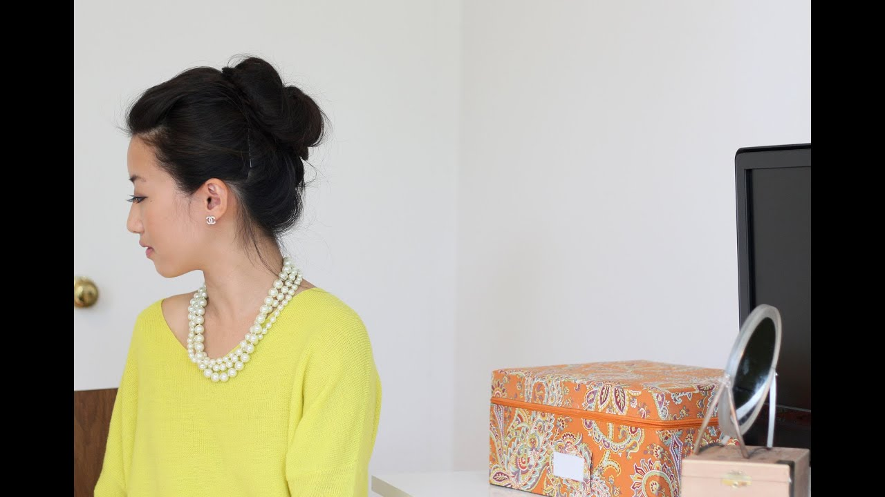 Voluminous Hair Bun Tutorial W Asian Bumpit Amp Goody Spin