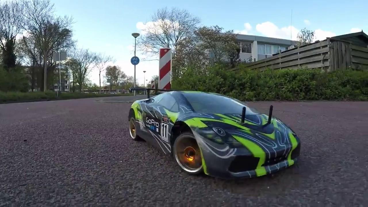 Rc Drifting Lamborghini Hsp Youtube