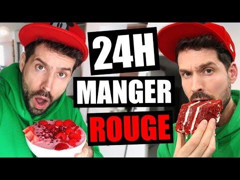 JE MANGE QUE LA NOURRITURE ROUGE PENDANT 24H - HUBY