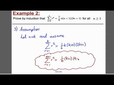 Proof by induction - Sums (1) FP1 Edexcel A-Level Maths