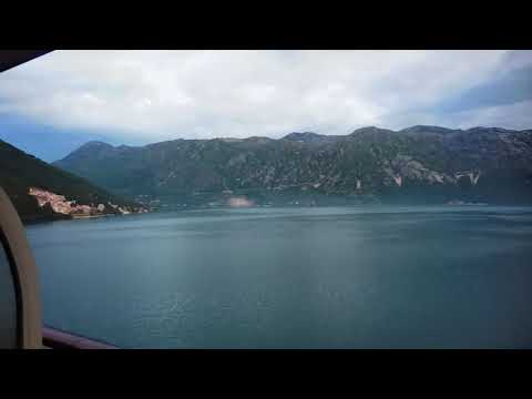 The Harbor entrance through fiord en route Kotor Montenegro early May 2016