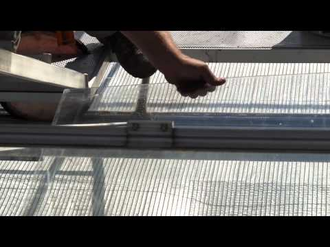 Greenhouse roof Repair Shuttle by Glass Handling Technic
