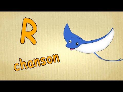 """lettre """"R-chanson"""" - prononciation de lettres en français  - Apprendre l'alphabet en français"""