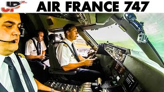 Piloting Boeing 747 out of Paris