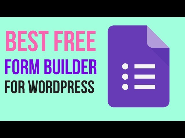 Best Free Form Builder Plugin for WordPress 2018 - HappyForms
