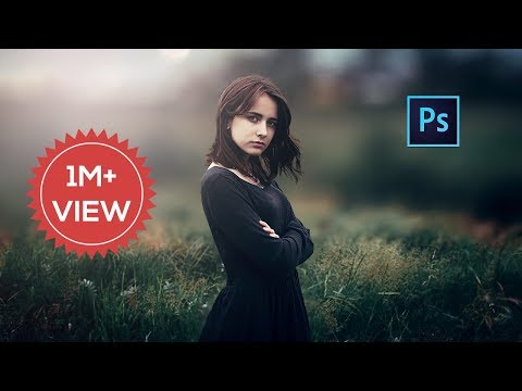Photoshop cc Tutorial : Outdoor Portrait Edit (Girl) ❤