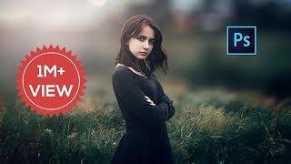 Photoshop cc Tutorial : Outdoor Portrait Edit (Girl) ❤