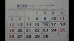 Calendar 2017 (Nov & Dec.)// Indian holidays, festivals