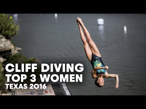 Top 3 Cliff Dives from Texas (Women) | Cliff Diving World Series 2016