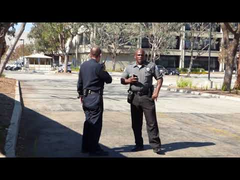 """LAPD Training Center: GUARD  """"YOU'RE GOING TO JAIL RIGHT NOW""""  fun with a guard, 1st Amend Audit"""