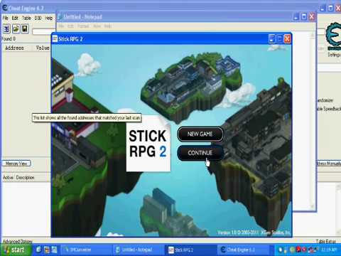 Stick rpg 2 hack money using cheat engine 6 2 youtube
