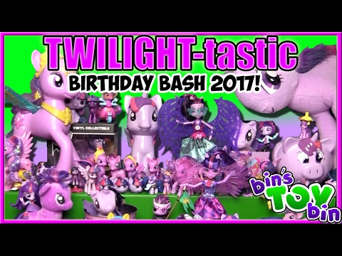 Princess Twilight Sparkle Birthday Bash 2017! 8 NEW My Little Pony Reviews! | Bin's Toy Bin