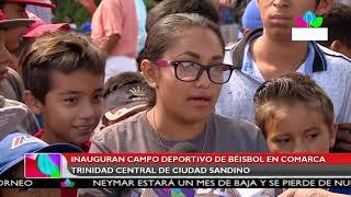 Multinoticias | Inauguran campo de béisbol en comarca Trinidad Central de Ciudad Sandino