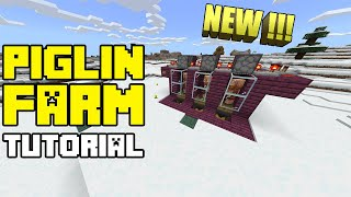 Piglin Farm Tutorial - Minecraft PE / Bedrock Edition