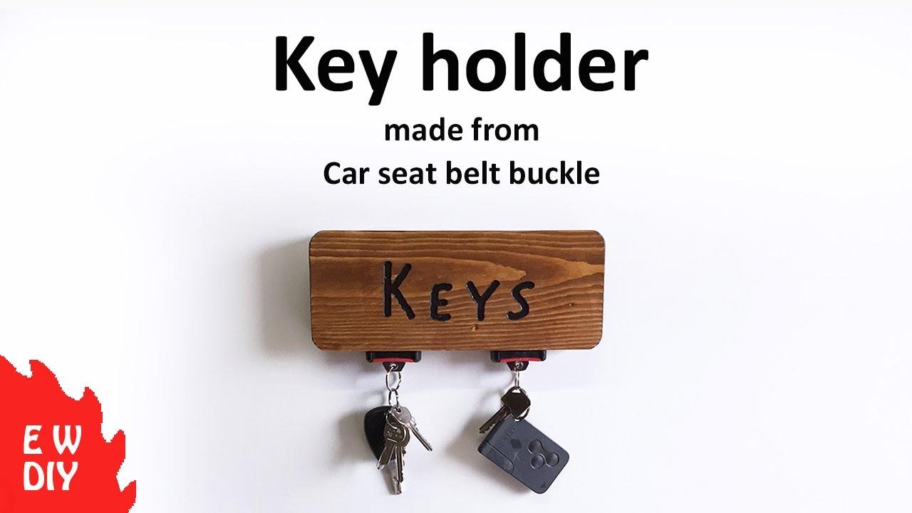 Seat belt buckle KEY Holder - YouTube