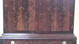 Furniture Spotlight:  Royal Furniture Crotch Mahogany Bookmatched Cabinet - Deal Of The Week