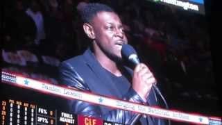 Damien Lawson sings the National Anthem for Lebron James & the Caviliers