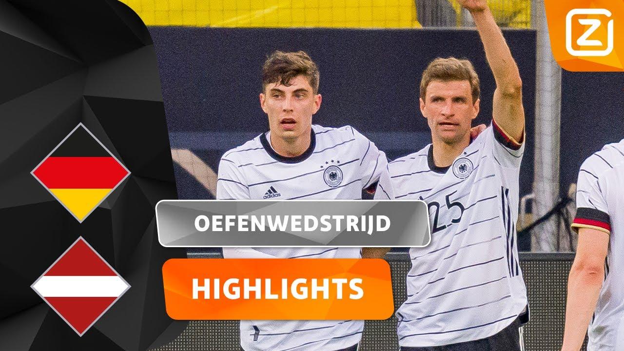 HET REGENT DOELPUNTEN! ⚽️💥 | Duitsland vs Letland | Vriendschappelijke Interland | Samenvatting
