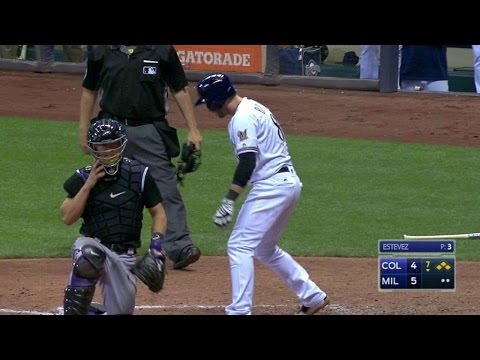 Perez punches a two-run triple to take lead