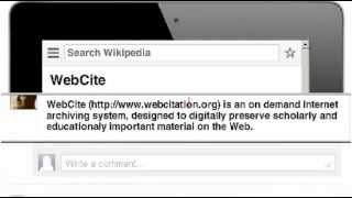 WebCite - The tool for Wikipedia editors