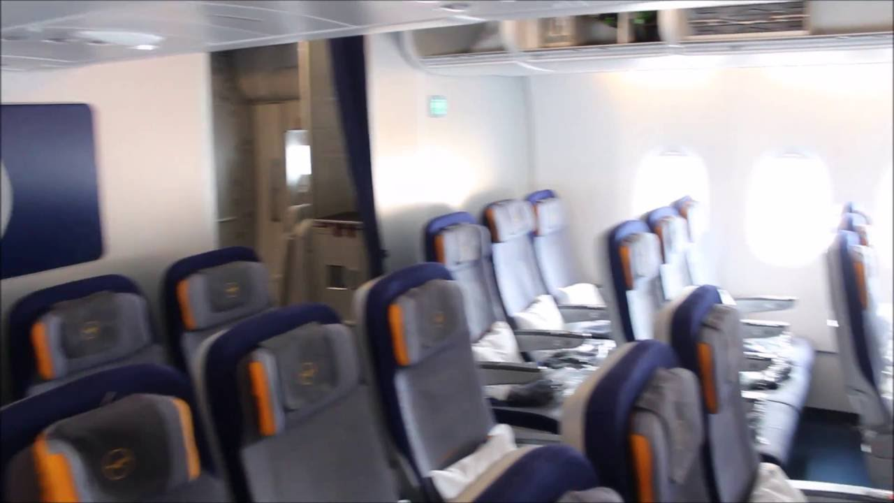 A380 Interior Lufthansa Economy Class Youtube