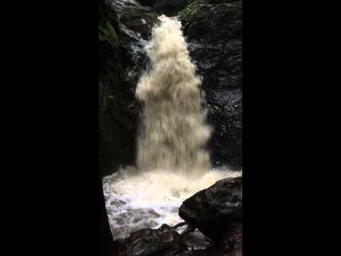 Cascade Falls in Mill Valley, CA after heavy rains