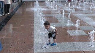 Ереван, Из ресторана на Бульвар с фонтанами, Yerevan, 16.06.19, Su, Video-2.