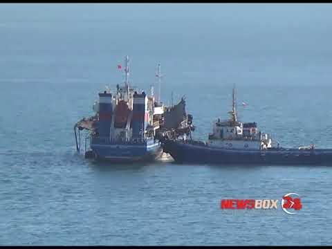 Появилось видео с места взрыва танкера «Залив Америка» в Находке