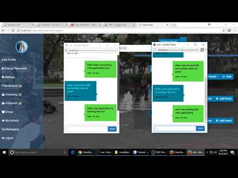 Live Multi Chat  Like Facebook Using PHP , Websocket & Javascript