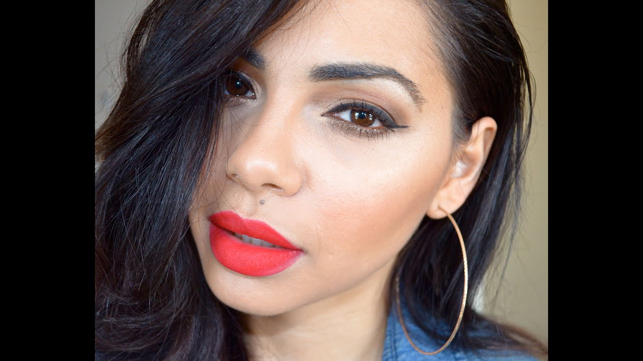 MAC Riri woo lipstick Review/Swatch/Demo - YouTube