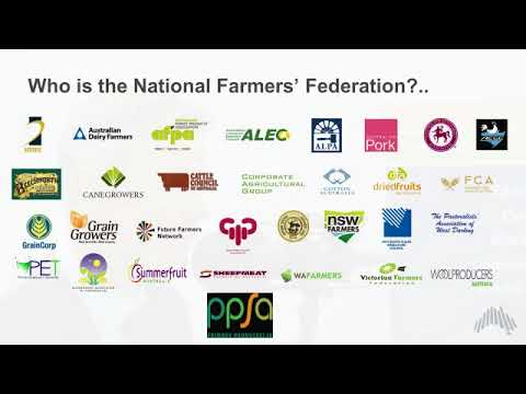 Tony Mahar CEO National Farmers Federation