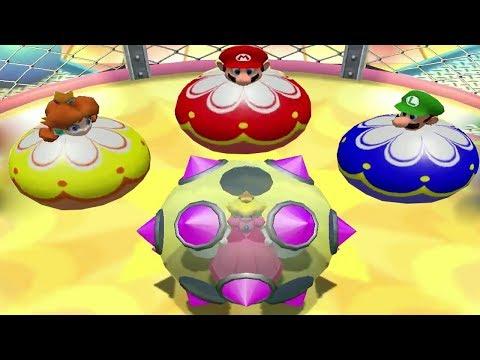 Mario Party 4 Mini Games - Peach Vs Daisy Vs Mario Vs Luigi