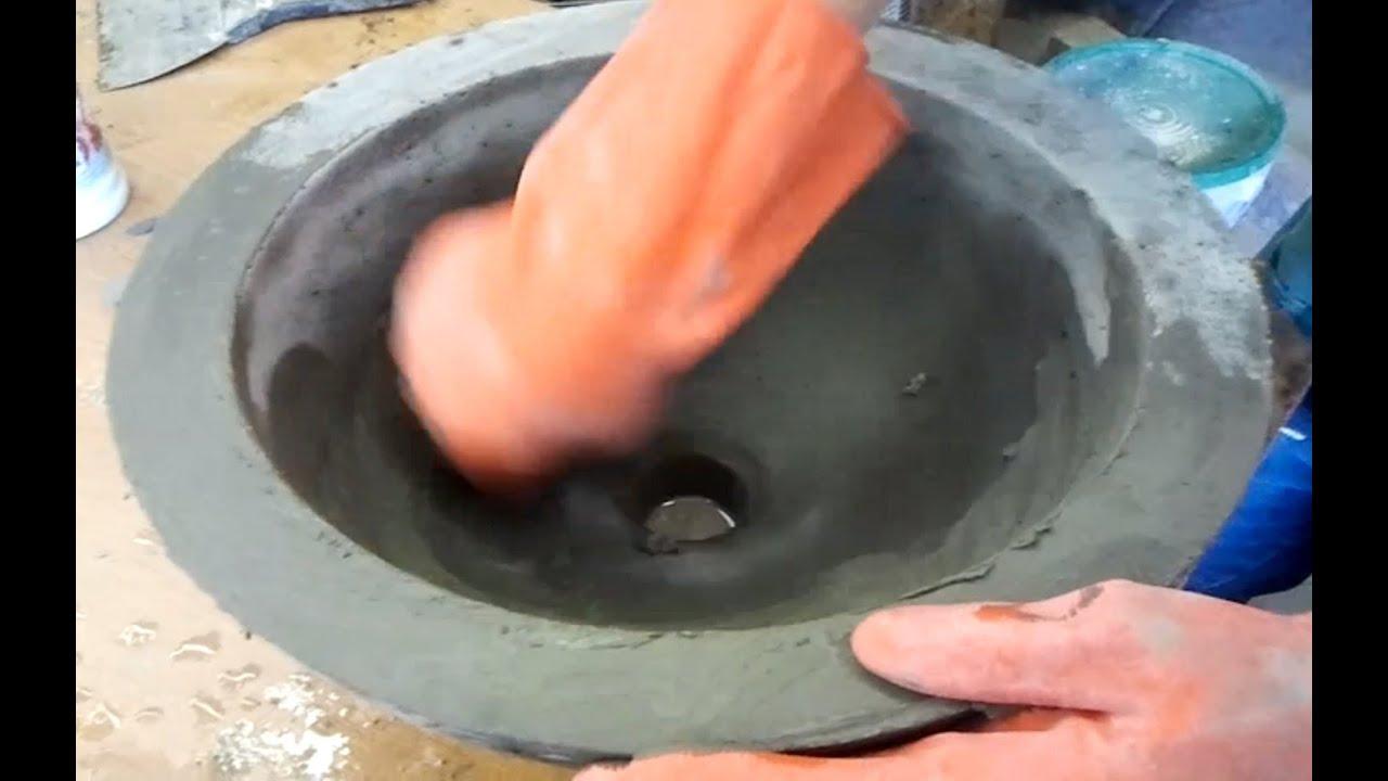 DIY Make a Concrete Vessel Sink  YouTube