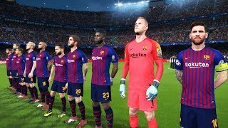 Barcelona vs villarreal - la liga 2 december 2018 gameplay