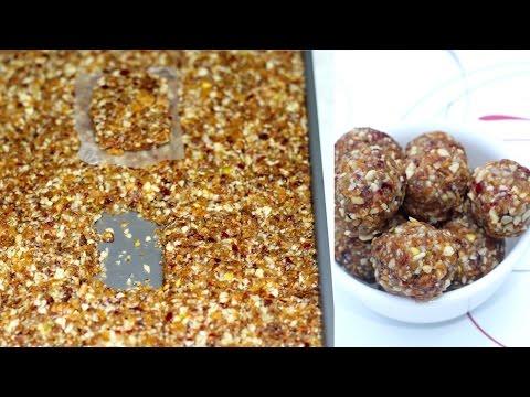 Super Power Energy Balls or Bars   Perfect winter and Prasad recipe