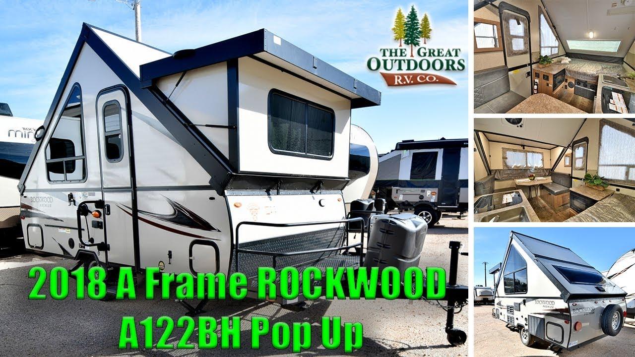 New 2018 A Frame ROCKWOOD A122BH Pop Up Hardside RV Camper Trailer ...