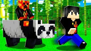 I Found my first PANDA in Minecraft with My Little Brother!