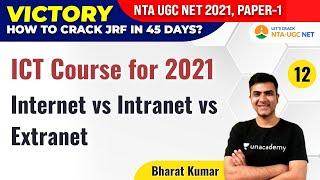 NTA UGC NET 2021 | ICT Course for 2021 by Bharat Kumar | Internet vs Intranet vs Extranet screenshot 4