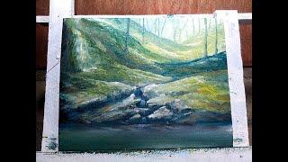 NATURE SPRING Simple Painting by Bernie John Velara
