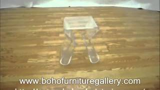 Acrylic End Table With Magazine Rack.wmv