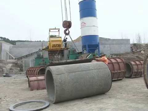 Horizontal type concrete pipe production line from HAMAC