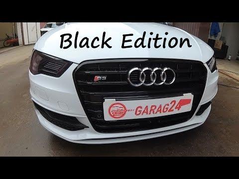 Покраска хромированного пластика в чёрный глянец. Audi S3 BLACK EDITION