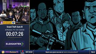#ESASummer18 Speedruns - Grand Theft Auto III [All Missions] by UltimaOmega07